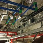 Pipework Above Ceiling Tiles